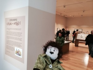 Cecil is ready to take a look at the exhibit.
