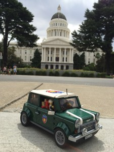 "One of my other prjects ""MINIfigs Take The States"" the Lego Mini Cooper and over 30 minifigs."
