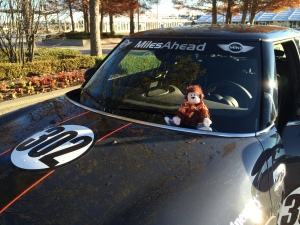 Cecil checks out our MINI for the day- number 302